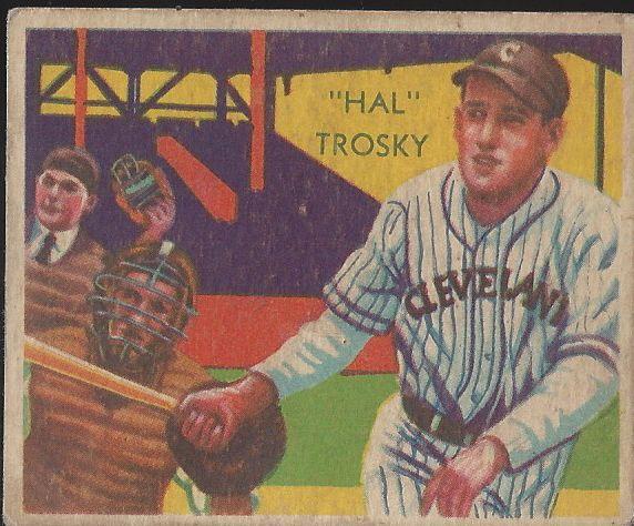 Lot Detail 1935 Hal Trosky Hof Diamond Star Baseball Card