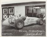 1954 Indianapolis 500 Winner - Bill Vukovich - Firestone Tire Co. Issued Photo