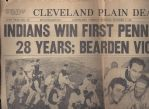 1948 Cleveland Indians Win Pennant - Cleveland Plain Dealer Partial Front Page