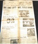 1965 Cleveland Browns (Eastern Division Champs) Clinching Newspaper