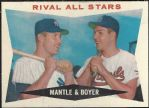 1960 Mickey Mantle & Ken Boyer - Rival All-Stars Tops Card (Better Condition)