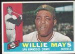 1960 Willie Mays Topps Baseball Card (Better Condition)