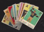 1959 Topps Football Card lot of (17) with (1) 1958