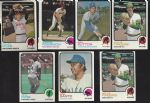 1973 Topps Baseball Card Lot of (105) with (5) HOFers and (18) Hi Numbers