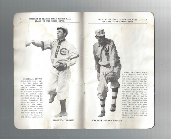 1910 World Series (Cubs vs Athletics) Chicago Daily News Issued Program Booklet
