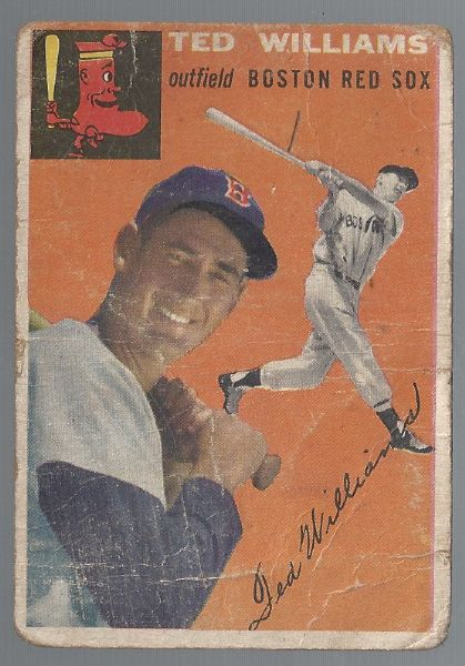 1954 Ted Williams (HOF) Topps Baseball Card - # 1 in the set