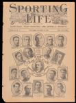 1905 Detroit Tigers Sporting Life Composite Front Cover with Rookie Ty Cobb