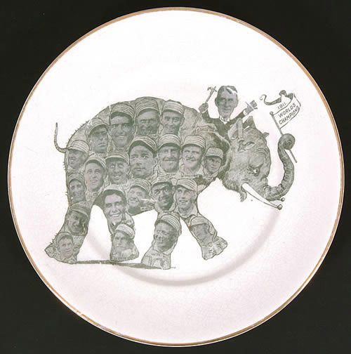 1911 Philadelphia Athletics (World Champions) Souvenir Plate
