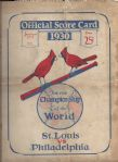 1930 World Series Program (Cardinals vs Athletics) at St. Louis