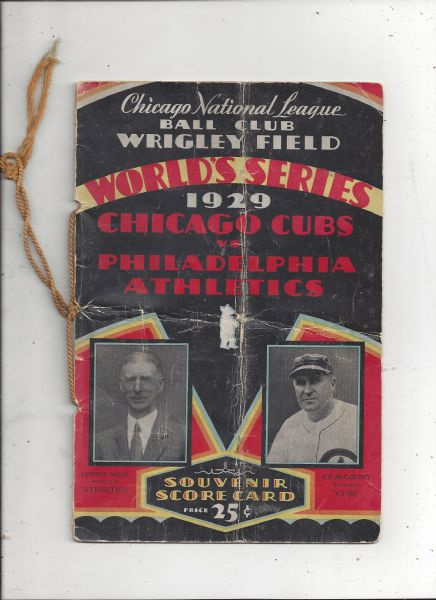 1929 World Series Program (Cubs vs A's) at Wrigley Field