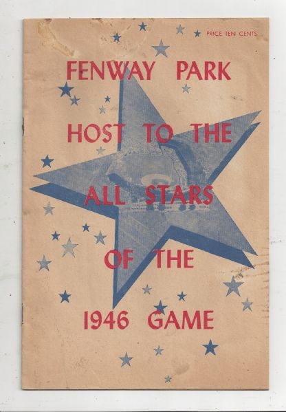 1946 Major League Baseball All-Star Game Program at Fenway Park