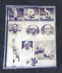 1920s Baseball Star Rotogravure Framed Display Piece.