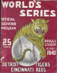 1940 World Series Program (Detroit Tigers vs. Cincinnati Reds) at Detroit