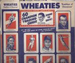 1952 Wheaties Full Uncut Back Box Panel Loaded With Sports Stars - Otto Graham