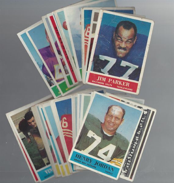 1964 Philadelphia Football Lot of (33) Cards With Stars