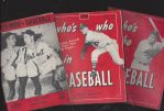 1944 - 1956 - 1958 Whos Who in Baseball Lot of (3)