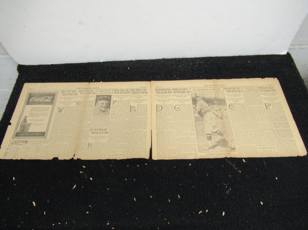 1919 Sporting News Partial Baseball Paper