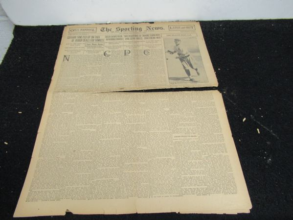 1920 Sporting News Partial Baseball Paper