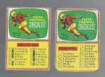 1966 Topps Football Checklists x (2)