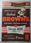 1950 Cleveland Browns (1st year in NFL) vs. Chicago Bears Pro Football Program