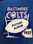 1957 Baltimore Colts (NFL) Picture Album/Yearbook with Unitas Rookie