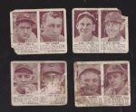 1941 Double Play Cards Lot of (4) Lesser Condition
