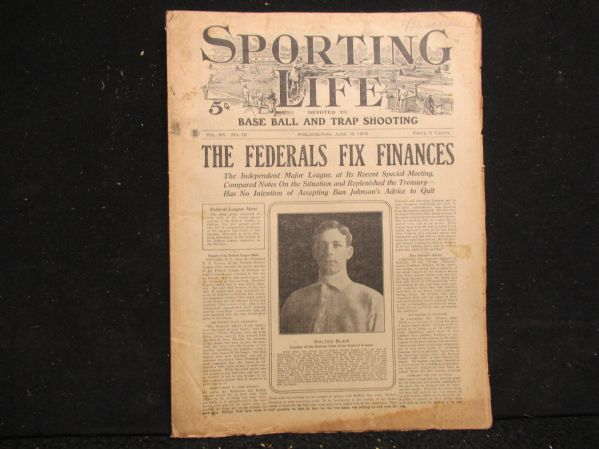 1915 Sporting Life Full Magazine/Paper with Federal League Coverage
