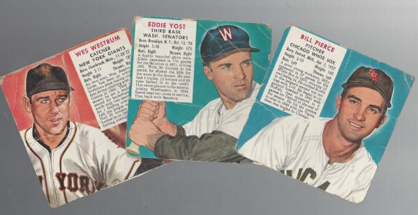 1953 Red Man Tobacco Card Lot of (3) Without Tab