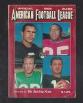 1968 American Football League Guide by The Sporting News