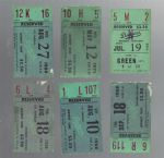1965 - 1971 LA Dodgers Ticket Stub Lot of (6)