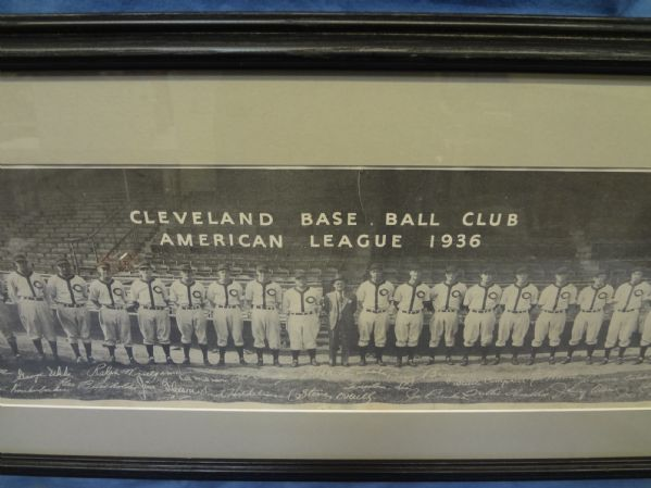 1936 Cleveland Indians Large Size Panoramic Photo