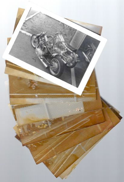 C. 1970's Motorcycle Racing Photo Lot of (9)