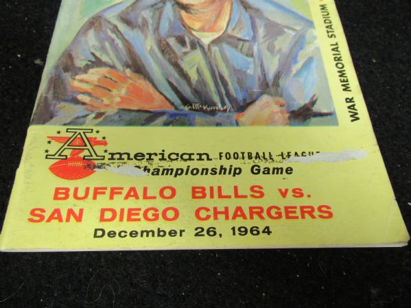 1964 AFL Championship Program - Buffalo Bills vs. San Diego Chargers