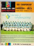 1965 AFL Championship program - San Diego Chargers vs Buffalo Bills at Balboa Stadium