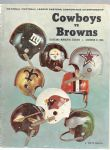 1968 NFL Eastern Conference Championship Game Program - Cowboys vs. Browns