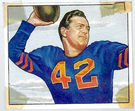 1950 Sid Luckman (HOF) Bowman Football Card