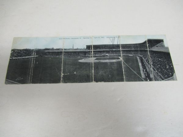 1912 Redland Field Opening Day Panoramic Postcard