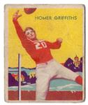 1935 Homer Griffiths (Pro Football) National Chicle Football Card