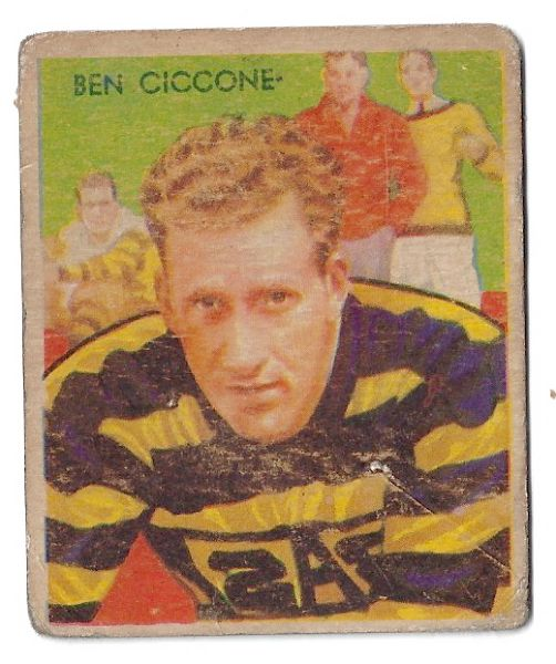 1935 Ben Ciccone (Pro Football) National Chicle Football Card