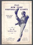 1945 NY Football Giants Official Review & Roster