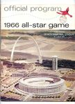 1966 MLB All-Star Game Program at St. Louis - Better Condition Grade