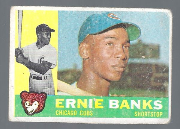 1960 Ernie Banks (HOF) Topps Baseball Card