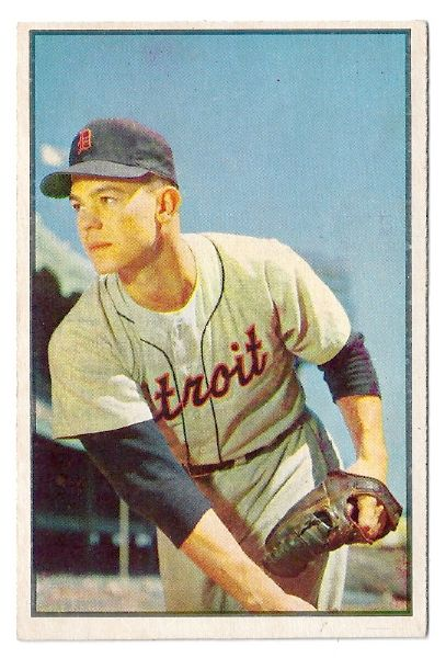 1953 Art Houtteman Bowman Color Baseball Card