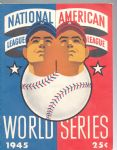 1945 World Series Program (Cubs vs. Tigers) at Wrigley Field - *High Grade*