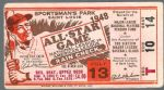 1948 MLB All-Star Game Official Ticket at St. Louis
