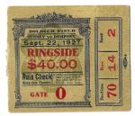 1927 Jack Dempsey vs. Gene Tunney - The Long Count - World Heavyweight Championship Boxing Ticket