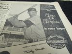 1956 Mickey Mantle Louisville Slugger (The Sporting News) Large Size Display Ad