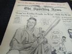 1956 Stan Musial (The Sporting News) Front Cover Willard Mullin Illustration