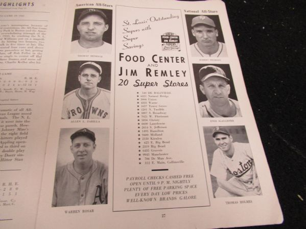 1948 MLB All-Star Game Official Program at St. Louis - #1