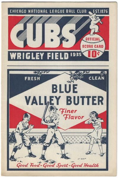 1935 Chicago Cubs vs. NY Giants Offcial Baseball Program